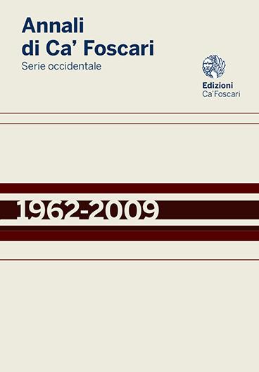 Journal Annali Di Ca Foscari Serie Occidentale